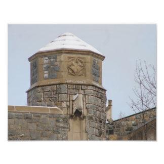 Blacksburg Campus im Winter-Entwurf #2 Fotografischer Druck