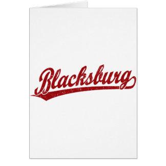 Blacksburg Skriptlogo im Rot Karte