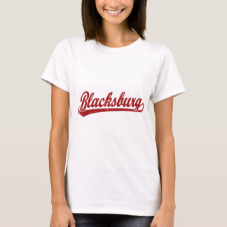 Blacksburg Skriptlogo im Rot T-Shirt