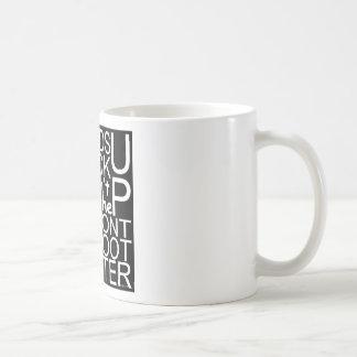 blackshirtwhiteonblack kaffeetasse