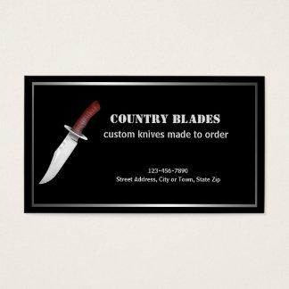 Bladesmith, der Bowie Messer kennzeichnet Visitenkarte