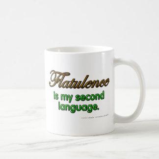 Blähung ist meine zweite Sprache Kaffeetasse