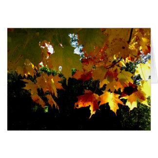 Blank_Dangling Herbstlaub Karte