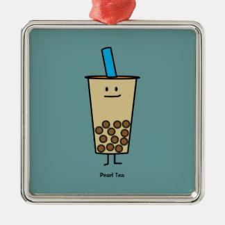 Blase Boba Perlen-Milch-Tee-Tapiokabälle Silbernes Ornament