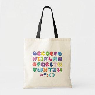 Blasen-Alphabet-Set Tragetasche