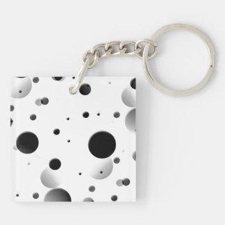 Blasen Beidseitiger Quadratischer Acryl Schlüsselanhänger