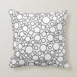 Blasen/Blasen-schwarzes Kissen