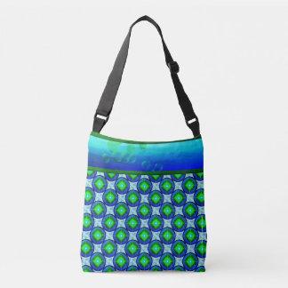 Blasen-Blues Crossbody Taschen-Tasche Tragetaschen Mit Langen Trägern