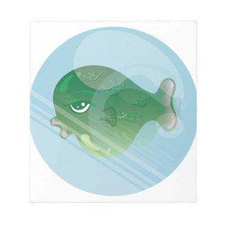 Blasen-Fische Notizblock