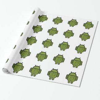 Blasen-Gekritzel-Charakter für den Android™ Geschenkpapier