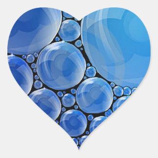 Blasen-Herz-Aufkleber Herz-Aufkleber