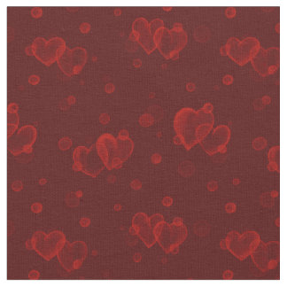 Blasen-Herzen. Aquarell. Roter Samt Stoff