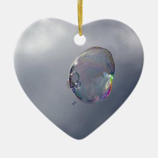 Blasen im Himmel Keramik Herz-Ornament
