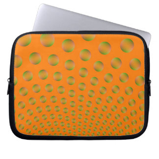 Blasen in der orange und grünen Laptop-Hülse Laptop Sleeve