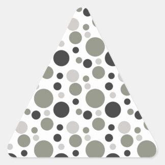Blasen in Schwarzem u. im Grau Dreiecks-Aufkleber