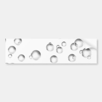 Blasen in Schwarzweiss Autoaufkleber