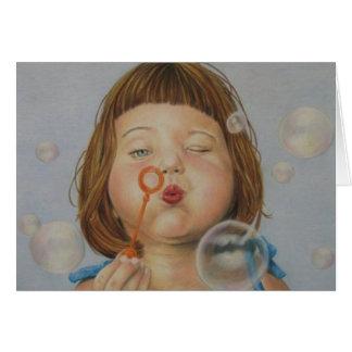 Blasen mit einem Wink Karte