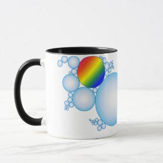 Blasen mit Prisma-Regenbogen Tasse