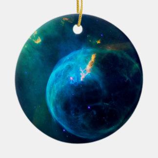 Blasen-Nebelfleck Rundes Keramik Ornament