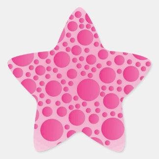 Blasen-rosa Hirsch Stern-Aufkleber
