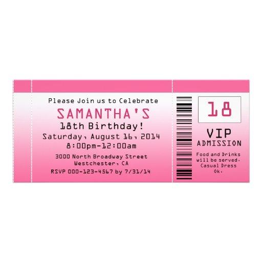 Blasen-rosa Karten-Einladungen