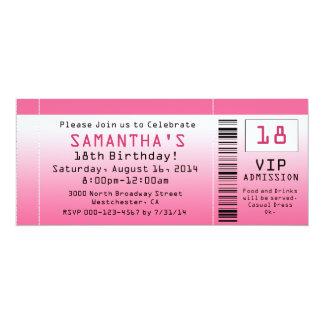 Blasen-rosa Karten-Einladungen 10,2 X 23,5 Cm Einladungskarte