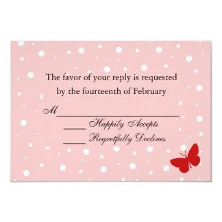 Blasen-Schmetterling UAWG Karte - Rosa 8,9 X 12,7 Cm Einladungskarte