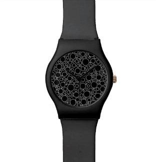 Blasen-Schwarz-Uhr Armbanduhr