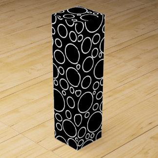 Blasen-schwarze Wein-Geschenkboxen Weinschachtel