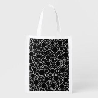 Blasen-schwarze wiederverwendbare Einkaufstüte Wiederverwendbare Einkaufstasche