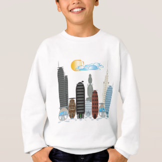 Blasen-Stadt-Cartoon-Thema Sweatshirt