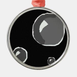 Blasen-Verzierung Rundes Silberfarbenes Ornament