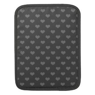 Blasenherzen emo Muster des Retro 80erflanells iPad Sleeves