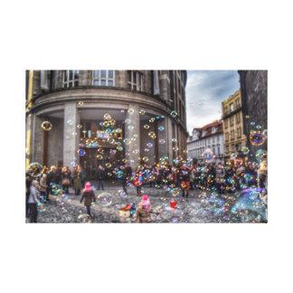 Blasenmanie in Prag Leinwanddruck