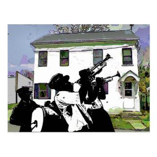 Blaskapelle an Delaware-Haus Postkarte