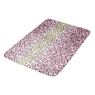 Blaß - rosa Cheetah-Pop-Kunst-Katzen-Tierdruck Badematten