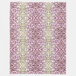 Blaß - rosa Cheetah-Pop-Kunst-Katzen-Tierdruck Fleecedecke