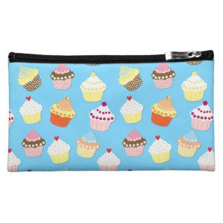Blasse blaue Schalen-Pastellkuchen Cosmetic Bag