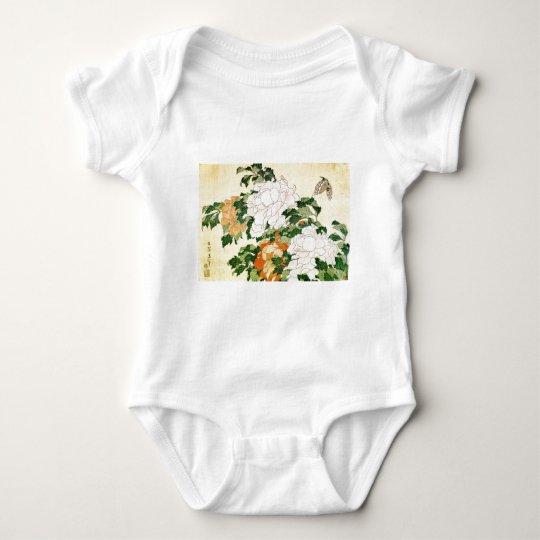 Blasse Blumen Baby Strampler