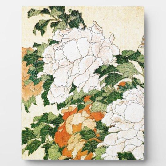 Blasse Blumen Fotoplatte