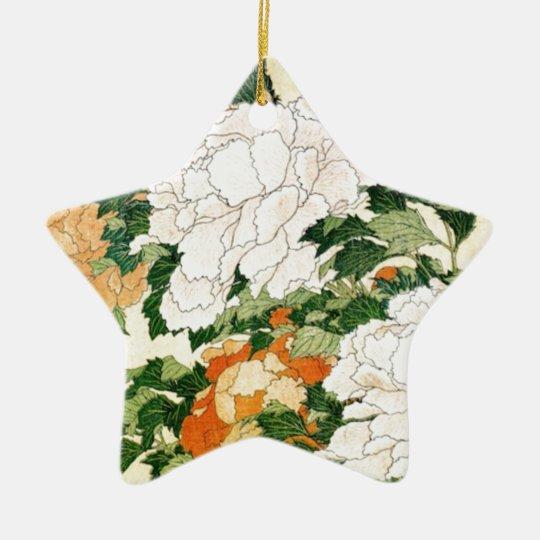 Blasse Blumen Keramik Stern-Ornament