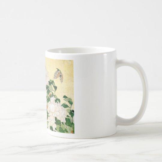 Blasse Blumen Tasse
