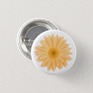 Blasse gelbe Gerbera-Gänseblümchen-PastellBlume Runder Button 3,2 Cm