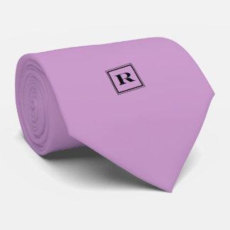 Blasse Krawatte des Orchideen-Monogramm-R