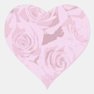 Blasse Lavendel-Rosa Rosen-Aufkleber