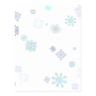 Blasse Schneeflocken Postkarte