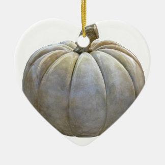 Blasser Kürbis Keramik Herz-Ornament