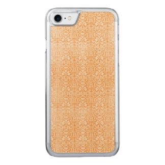 Blasser orange Damast gealtertes Muster Carved iPhone 8/7 Hülle