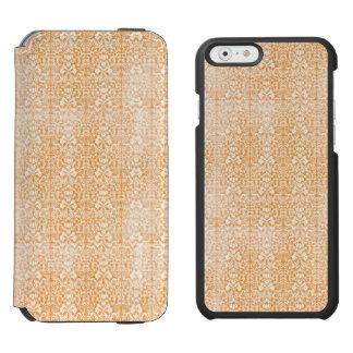 Blasser orange Damast gealtertes Muster Incipio Watson™ iPhone 6 Geldbörsen Hülle
