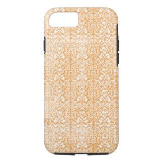 Blasser orange Damast gealtertes Muster iPhone 8/7 Hülle